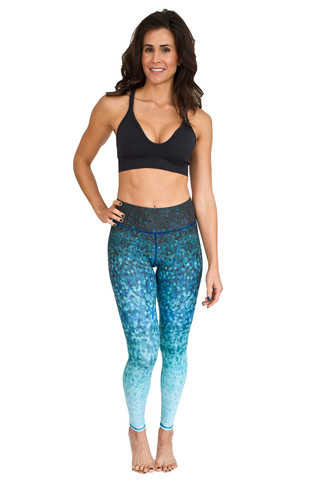 Leggings - Okiino Azul Scales Leggings