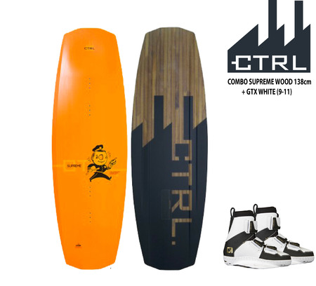 CTRL  Combo de wakeboard CTRL The Supreme Wood 138cm c/GTX White (9-11)