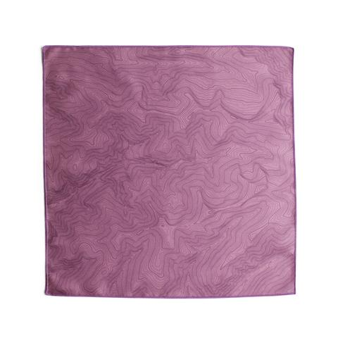 Tees - Kind Design TOPO POCKET SQUARE / EGGPLANT