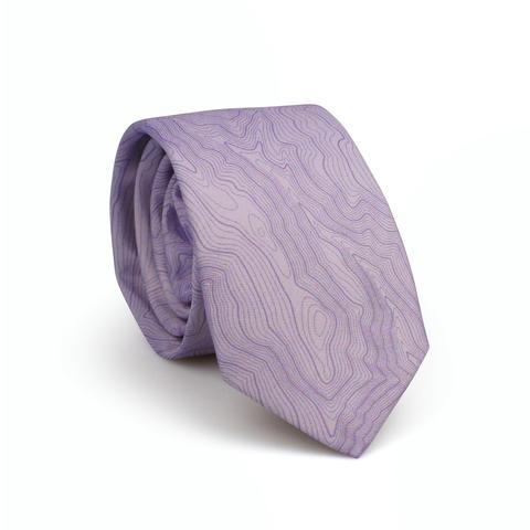 Tees - Kind Design SKI AREA TOPO TIE / LAVENDER