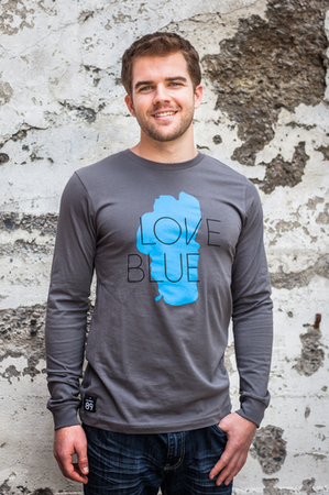 Long Sleeve - California 89 MEN'S LONG SLEEVE LOVE BLUE TEE