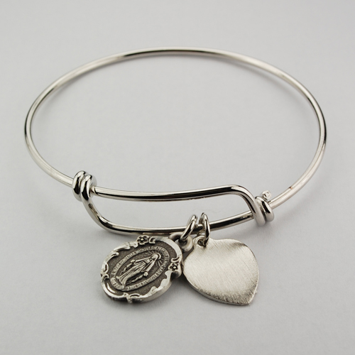 Bangle Bracelet Miraculous Medal