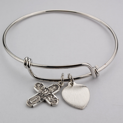 Bangle Bracelet 4 Way Medal