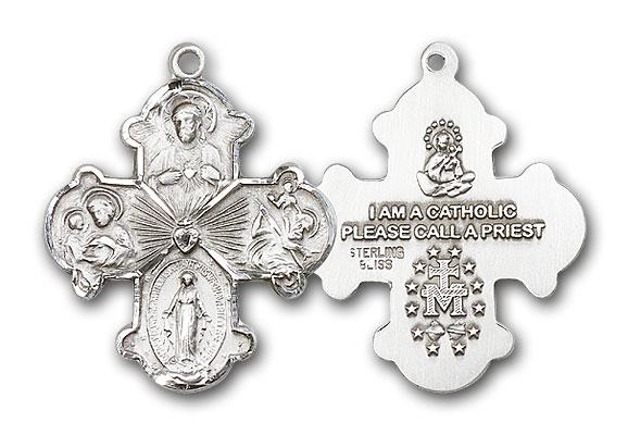 0042SS Silver 4 Way medal