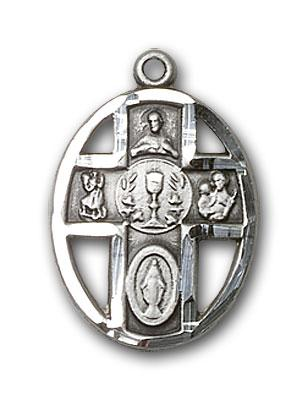 Sterling Silver 5-Way / Chalice Medal - Pendant
