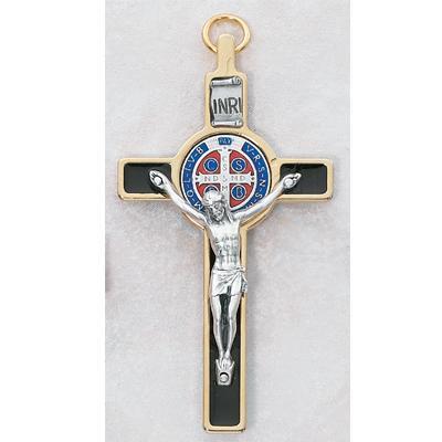 3 Inch Gold St Benedict Crucifix