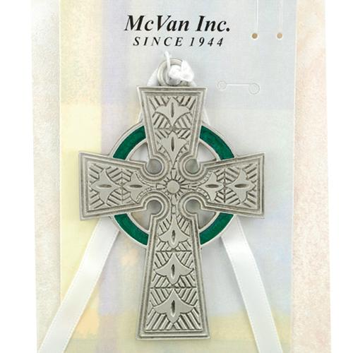 3 pewt celtic cross carded