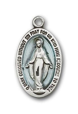4122EMSS Silver Miraculous medal