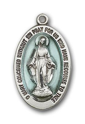 4123EMSS Silver Miraculous medal