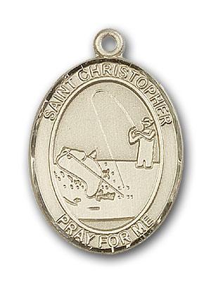 14kt gold st  christopher medal bl7196kt