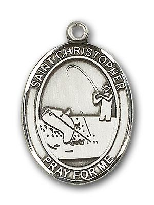 silver st  christopher medal