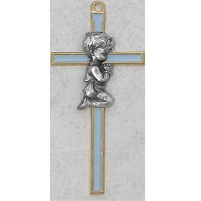 blue epoxy childrens wall cross 5 1 2
