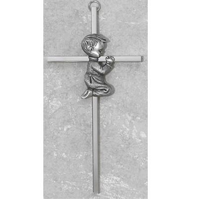 6 Inch Silver Boy Cross