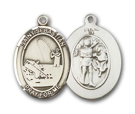 silver st  sebastian fishing medal bl8188ss