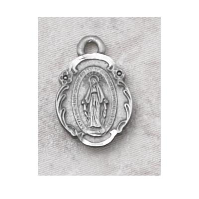 Miraculous Medal and Chain Pewter