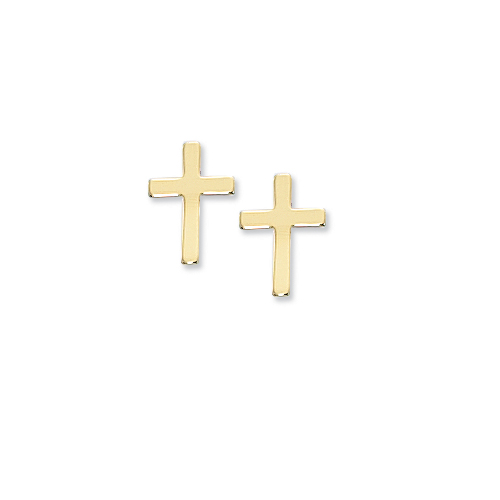 Small Gold Plated Earrings with White Leatherette Box