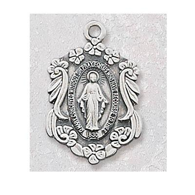 Uniquely Designed Sterling Silver Miraculous Medal1