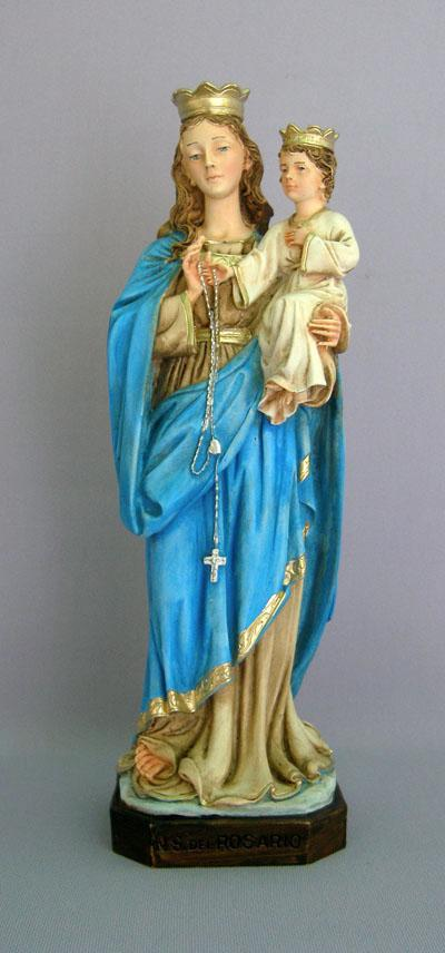 our lady of rosary madonna child statue 11 inch