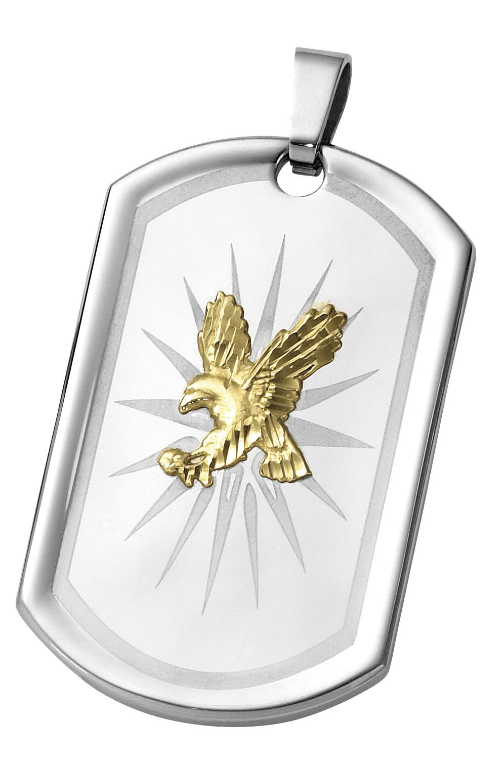 stainless steel eagle dog tag