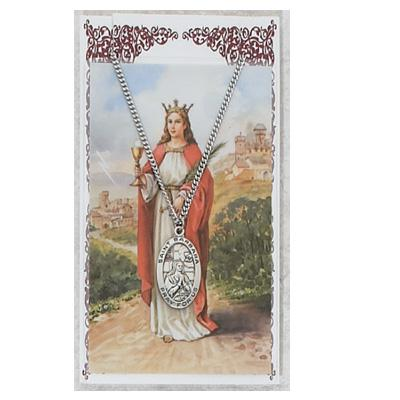 ST BARBARA Prayer Card Set