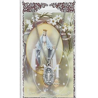 Miraculous Medal and Prayer Card