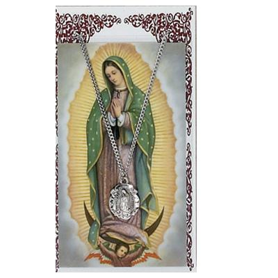 Our Lady of Guadalupe Prayer Card and Medal