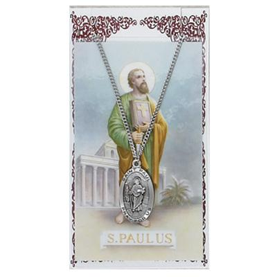 St Paul Medal and Prayer Card Set