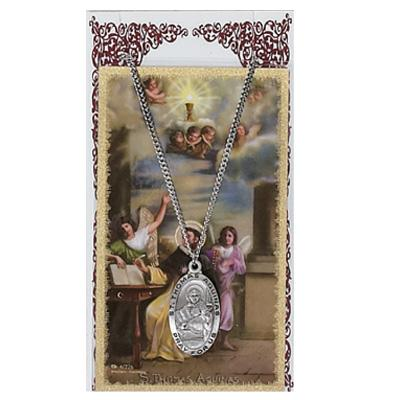St Thomas Aquinas Prayer Card and Medal Set