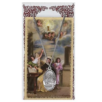 St Thomas Aquinas Prayer Card and Medal Set