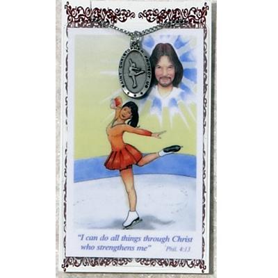 st. christopher figure skating medal