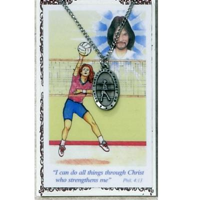 st. christopher volleyball medal