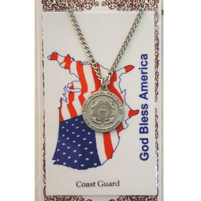 Coast Guard Prayer Card and Medal