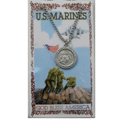 Marine Prayer Card and Medal