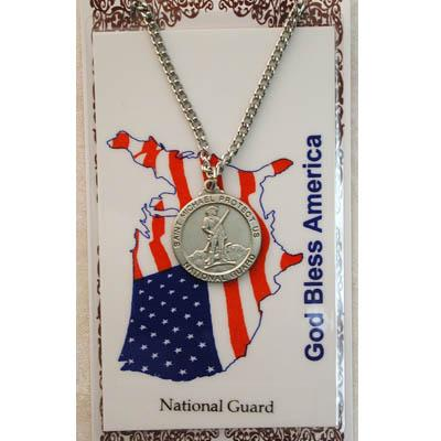 National Guard Prayer Card and Medal