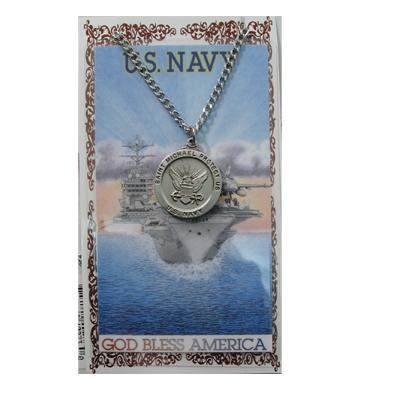 Navy Prayer Card and Medal