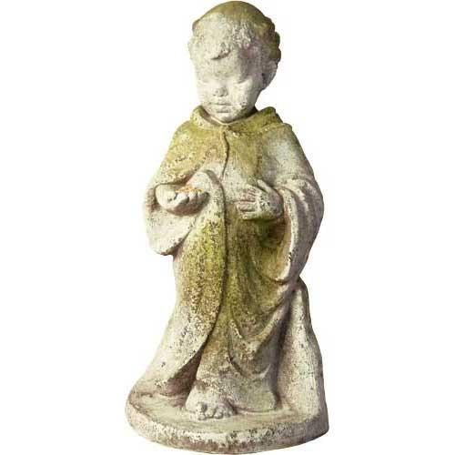 baby st. francis outdoor statue 23in