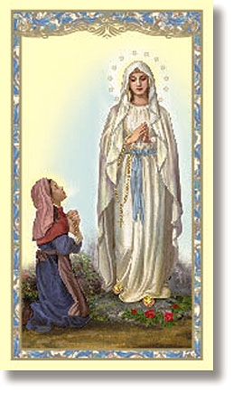 lourdes prayer card
