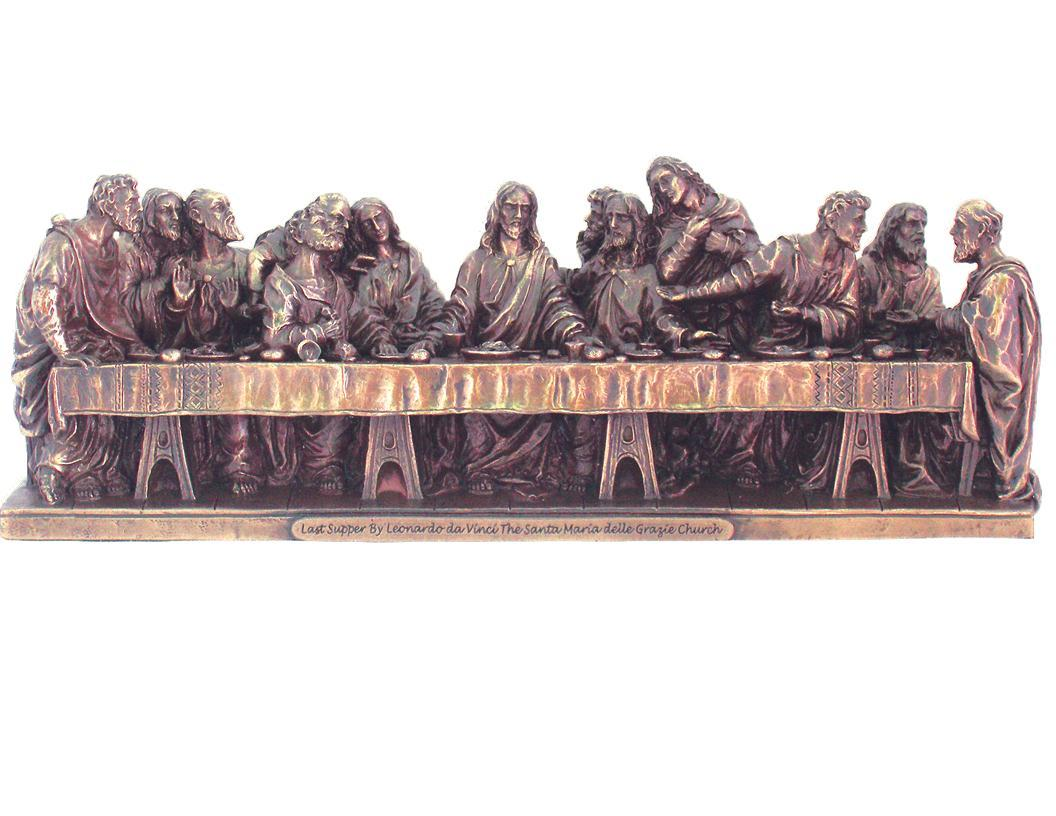 last supper statue bronzed resin 9.5x2.25x3.5