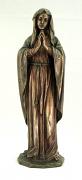 praying virgin veronese bronzed resin lightly hand painted 11.75