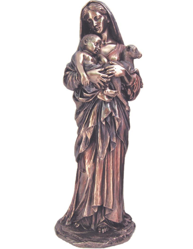 linnocence veronese bronzed resin lightly hand painted 11.75