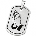 stainless steel serenity prayer dog tab