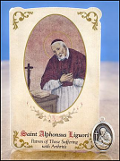 saint alphonsus liguori healing holy card and medal
