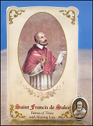 saint francis de sales healing holy card and medal