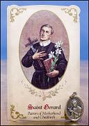 saint gerard healing holy card and medal