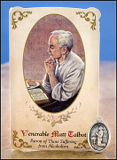 venerable matt talbot holy card medal