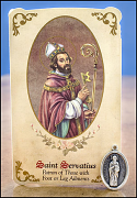 saint servatius healing holy card and medal