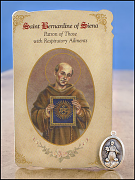 saint bernardine of siena holy card medal