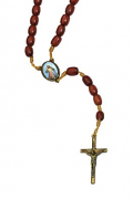 divine mercy wood bead rosary