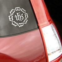 ihs car decal crown of thorns