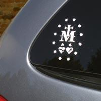 miraculous medal bumper car decal